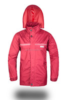 folding crease proof 100% polyester waterproof rain coat