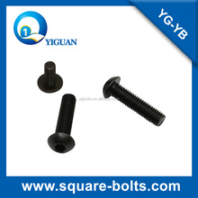M6*20 mushroom head bolts with high machine strength
