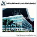 Unitized tempered glass curtain wall supplied by Guangzhou Hwarrior