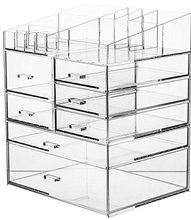 6 drawers Acrylic Clear Makeup Organiser Cosmetic Storage Drawers Jewellery Box