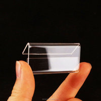 Mini Clear Acrylic Sign Display Holder Price Card Tag Label Stand Display Holder 4cm x 2cm