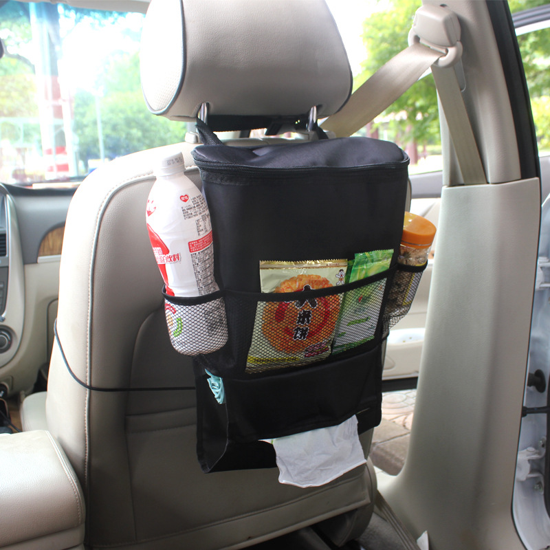 Multi function portable car seat back bag storage