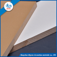 Mdf Grooved wood Laminated Wall Panel melamine Slotted Board