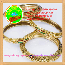 18k gold fashion jewelry bangles and gold bracelets plated bangles