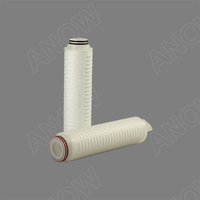 0.1 micron 20inch PES pleated cartridge filter for water filtration