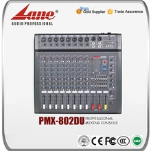 Lane 8 channels usb sound mixer with amplifier PMX - 802DU