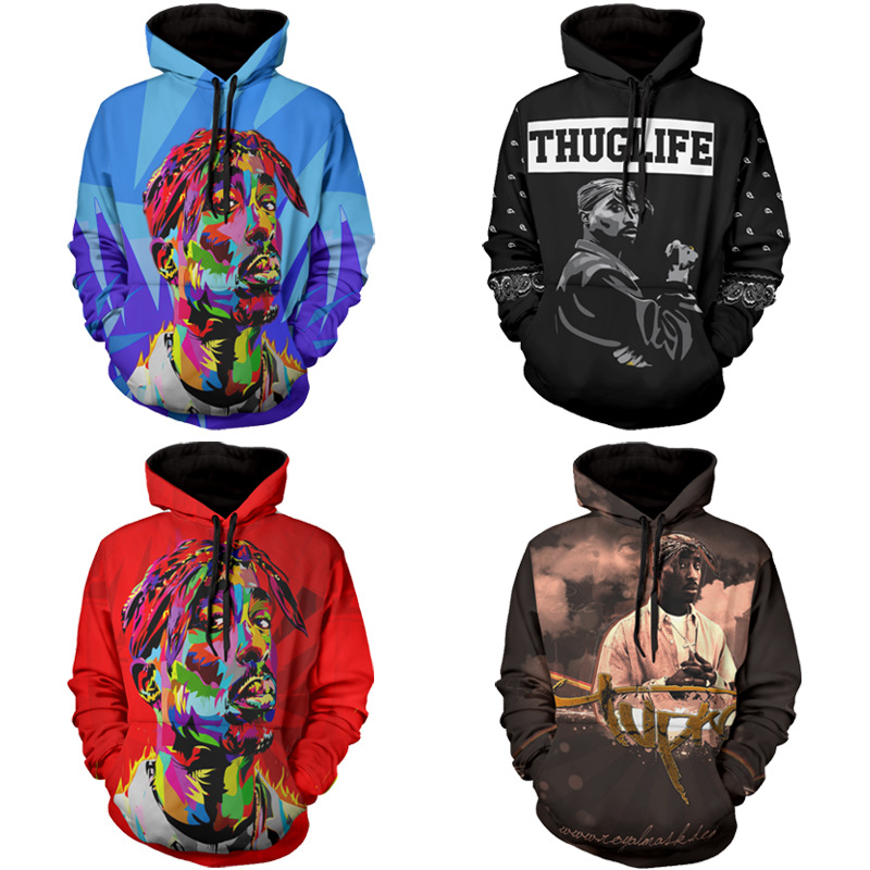 2017 Hip hop Sweatshirt mens 3d print sweatshirts Casual harajuku punk hoodies