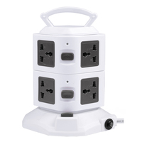 8 Outlets colored and Design belkin surge protector 2500W Tower shape spike guard