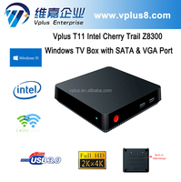 Vplus T11 Z8300 Wintel Intel TV Box with SATA & VGA window s tv box