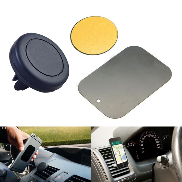 Magnetic mobile phone car holder 360 degree rotation cell phone holder car air vent silicone magnet