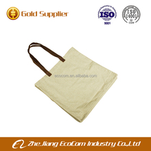 China factory hot selling export products linen material shopping bag