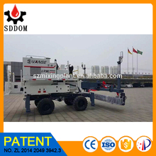 Long boom type ride on concrete laser screed paving machine