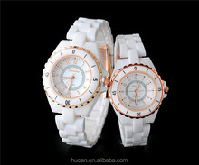 High quality unique vogue factory wholesale ceramic fashion watch white