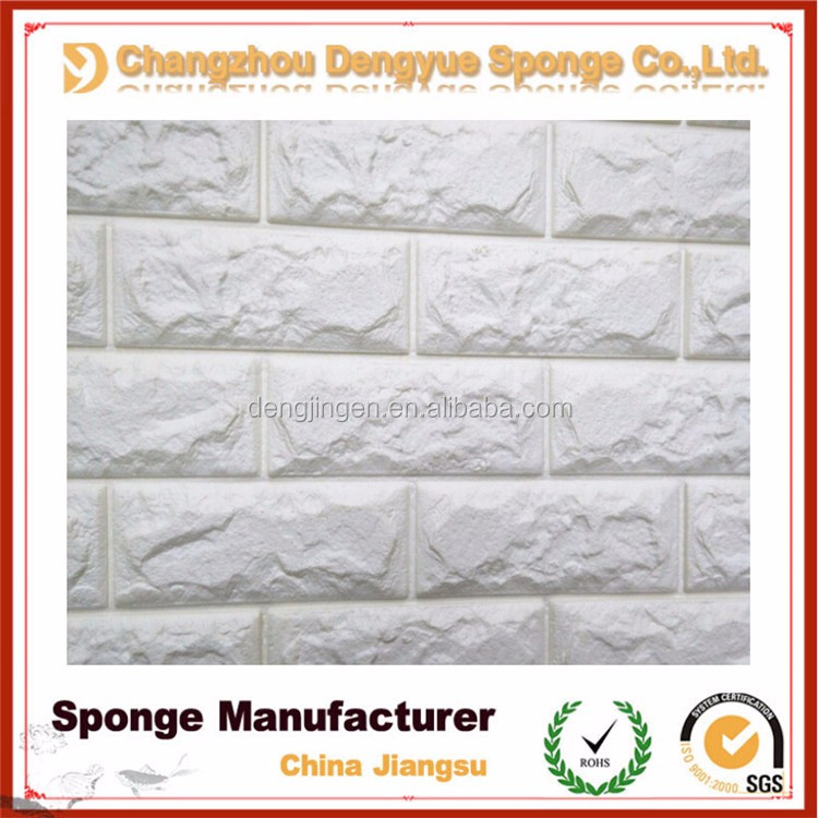 colorful easy to install non-toxic bedroom/art room/interior decoration Brick Stone Foam 3D wall sticker