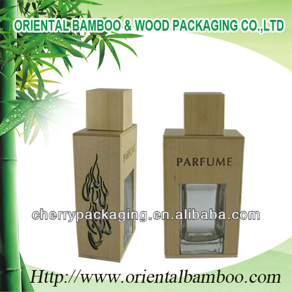 Wooden perfume packaging 50ml 100ml glass bottle OEM custom perfume bottles