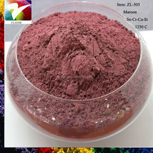 Ceramic powder 1300C maroon color stain