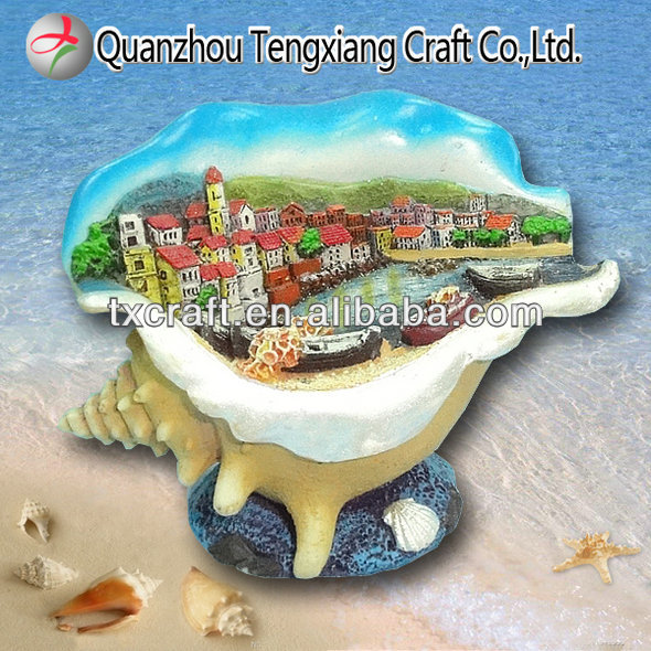 resin tourist handicraft sea shell souvenir