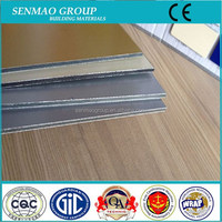 wood texture composite panel aluminum plastic board, outdoor plastic panel, decorative exterior wall panel