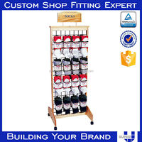 merchandising supermarket metal display stand for travel accessories