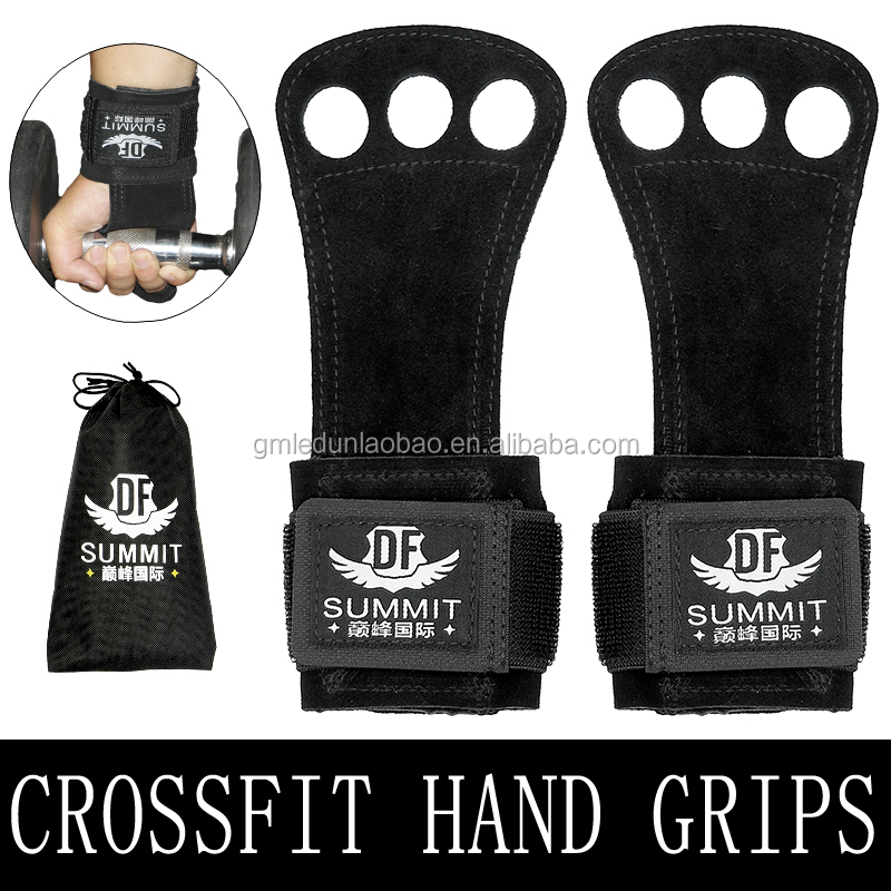 Weight Lifting Gloves Gymnastics Hand Grips Pads With Wrist wrap Support