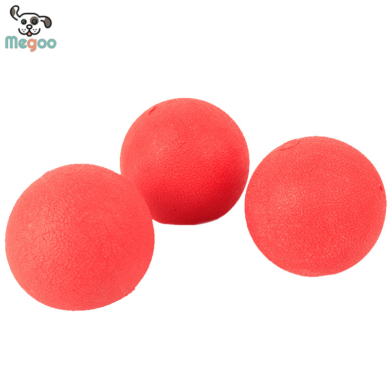 Bite Resistant Elastic Dog Ball Toys Rubber Pet Training Toys