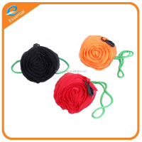 190T polyester folding rose shopping bag
