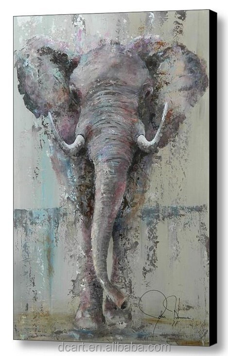 Elephant oil painting modern art paintings