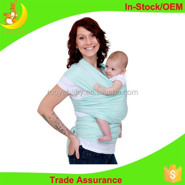 Organic cotton material baby wrap high quality ergonomic baby carrier