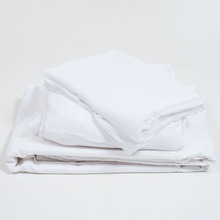 Wholesale Cheap 60 Cotton 40 Polyester White Percale Single Use Hotel Bed Sheet