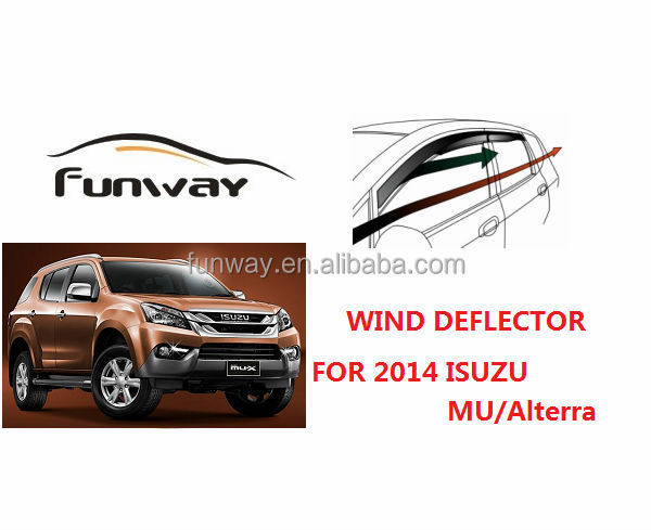 2014 ISUZU MU-X Alterra wind deflectors door window deflectors car rain visor accesories