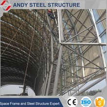 steel coal yard shed roof truss systems
