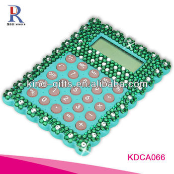 Customer Design Rhinestone Diamond Promotional Desk Calculator Manufactory|Factory|Exporter