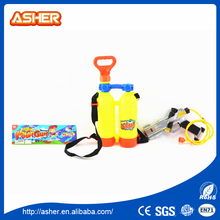 2016 child shooting long air press water bottle backpack toy gun with bulle