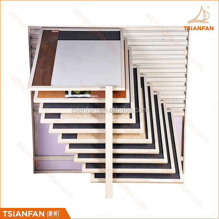 Showroom Flooring Horizontal Sliding Marble Ceramic Tile Display Stand