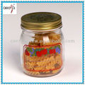 competitive price round clear cheap glass marson jars with decal