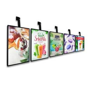 Hot pot restaurant theme hotel ed backlit poster frame plastic led lightbox advertising light boxes