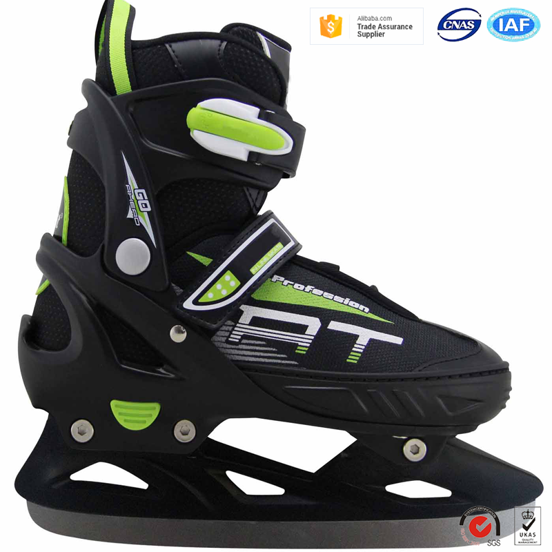 Top grade cheap price outdoor sports durable retractable sizes ice skates shoes for children and teenagers