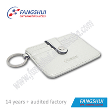 Newest fashion pu leather card holder case money clip
