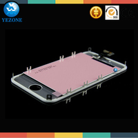 Original No Scratch Silver Bezel Middle Frame Chassis Housing Plate Mid Board For iPhone 4S 4GS