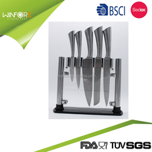 5pcs Stainless steel Kitchen Cutter knife set with Hollow handle