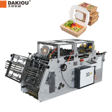 Wholesale High Speed Full Automatic Paper Lunch Box Making Machine with gluing