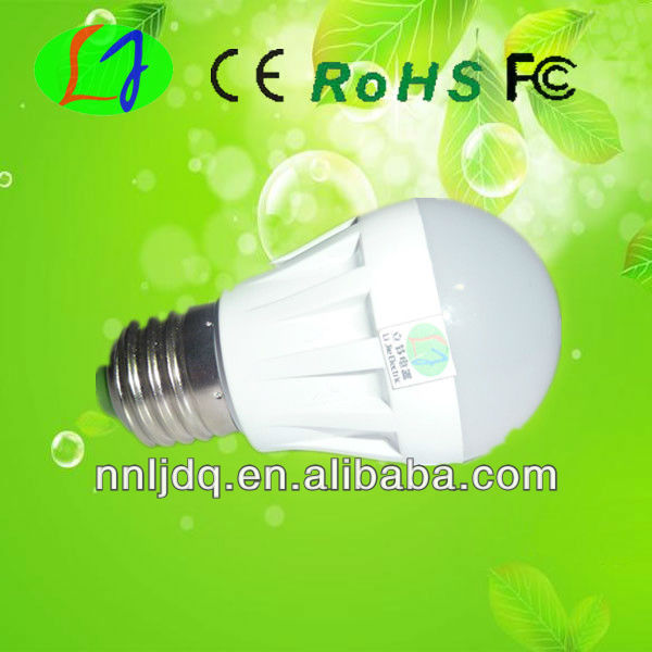 rechargeable led light bulb with e17 base 8w with CE RoHS Fcc approved