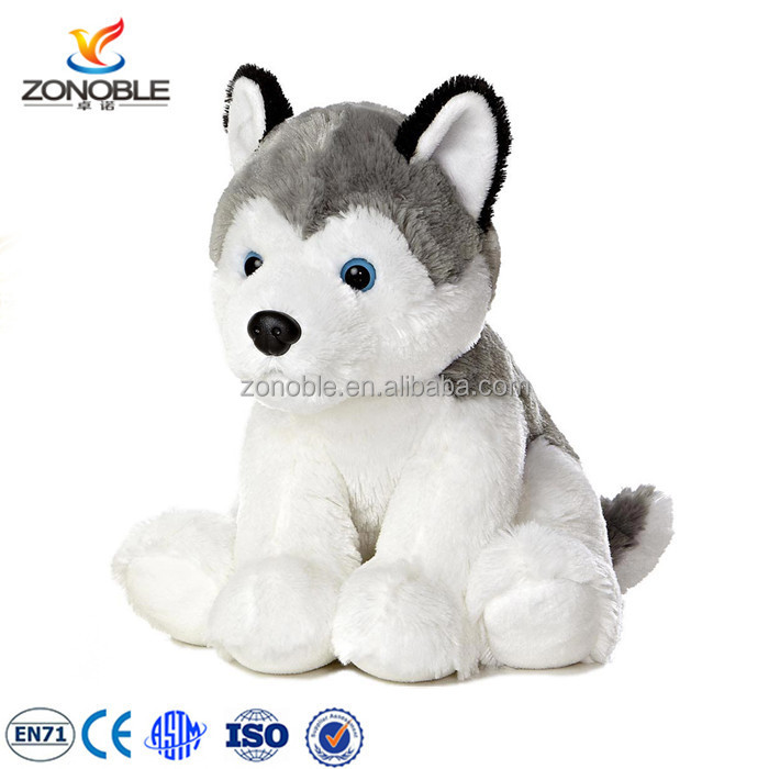 Custom soft Stuffed Dog Dolls Animal Toys plush siberian husky puppies