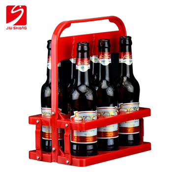Eco-Friendly free samples foldable plastic 6 pack bottle carrier for beer