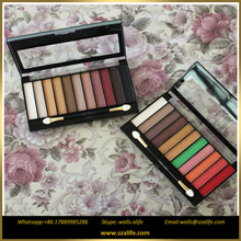 Hot!!! New Arrive Makeup Palette 11 Color illusion All Shimmer Eyeshadow/Alife Makeup Long-lasting Pot Cream Colorful eye shadow