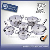 stainless steel capsule bottom commercial induction cookware