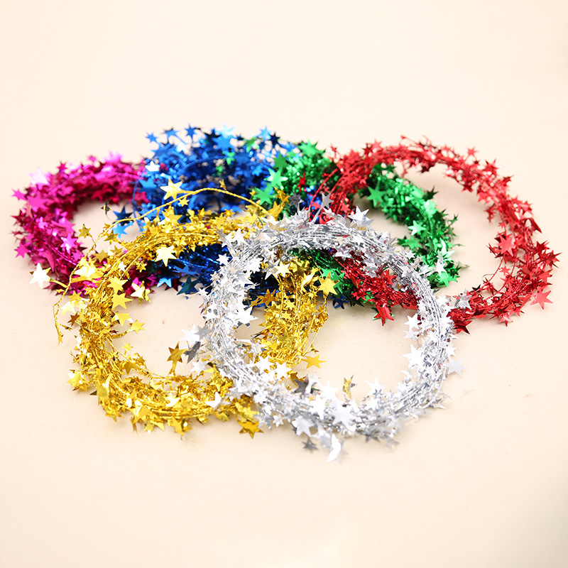 Christmas decorations Christmas star iron wire weave shine colorful