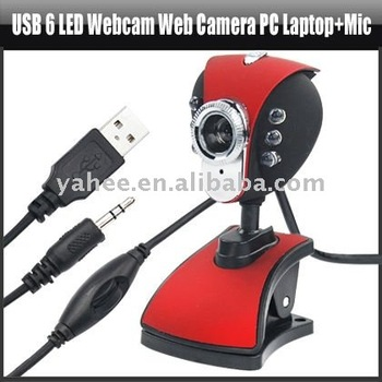 USB 6 LED Webcam Web Camera PC Laptop+Mic ,YAN307A