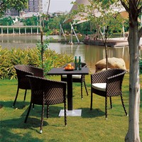 Cheap outdoor deck furniture dining sets for lawn 5 piece table and chairs 4 furniture