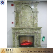 High quality carving onyx marble fireplace